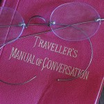 Traveller's Manual of Conversation with eyeglasses
