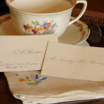 Teacup with calling card